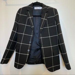Christian Dior black and white tailored blazer